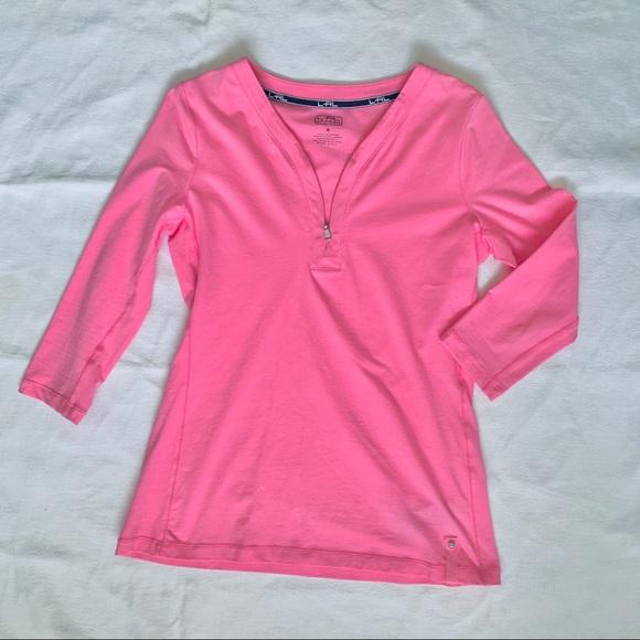 L-RL Lauren 3/4 sleeve shirt size S